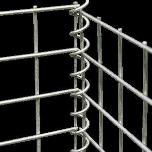 Detail gabionové spojovací spirály